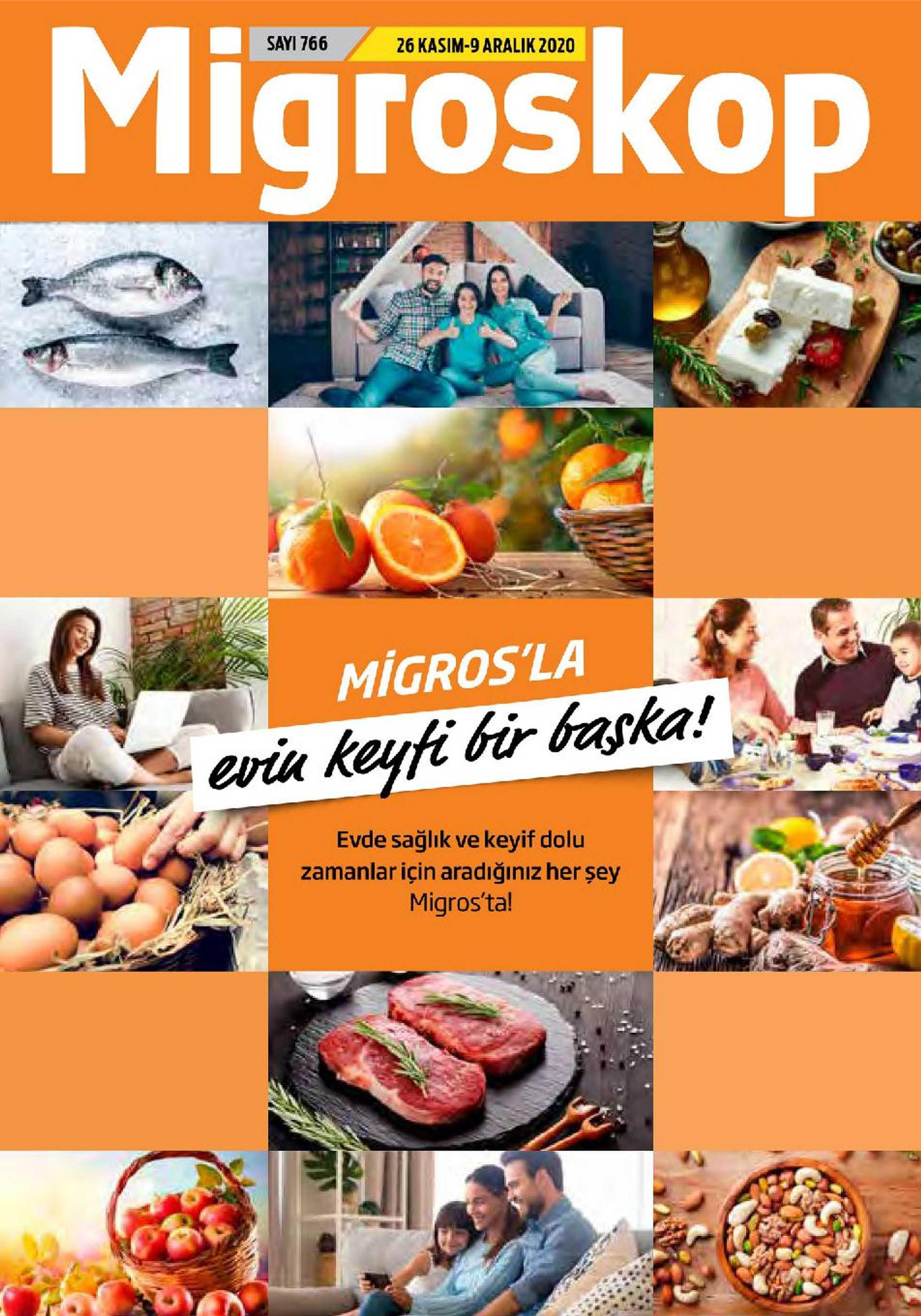 Migros - indirimler 26.11.2020 tarihinden başlayıp 09.12.2020 - tarihine kadar devam ediyor. Sayfa 1.