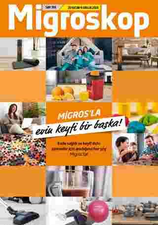 Migros - indirimler 26.11.2020 tarihinden başlayıp 09.12.2020 - tarihine kadar devam ediyor. Sayfa 65.